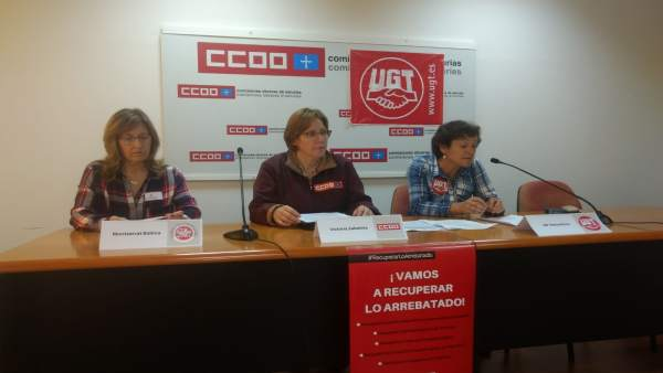 Rueda de prensa de los sindicatos sobre Correos.