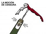 Moción de censura, viñeta de Malagón