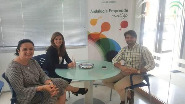 Reunión entre el CADE de Huércal Almería y el presidente de Aecha