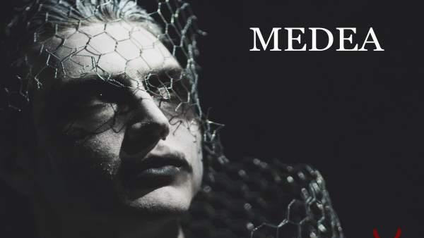 Cartel obra de teatro Medea