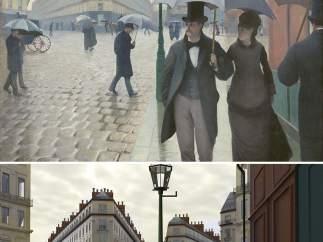 Calle de París, día lluvioso