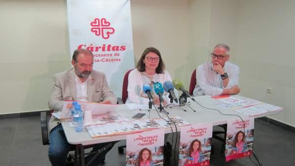 Presentación de la memoria de actividades de Cáritas Coria-Cáceres