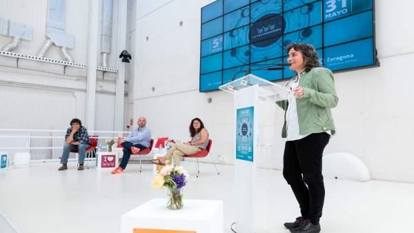 La vicealcaldesa Broto en el V aniversario de La Colaboradora
