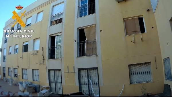 Narcobloque intervenido en Roquetas de Mar