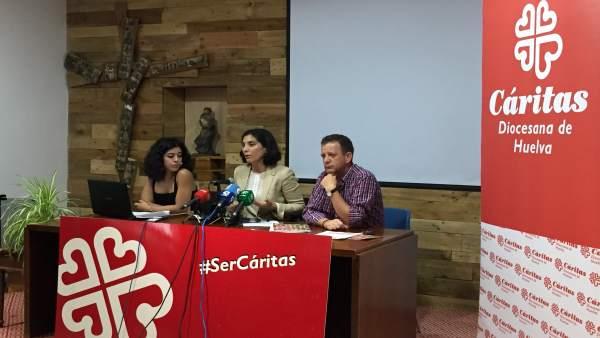 Presentación de la memoria de Cáritas en Huelva.