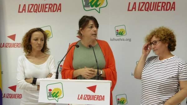 La parlamentaria andaluza de IULV-CA Elena Cortés.