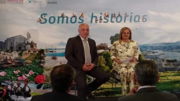 Antonio Ruiz y Carmela Silva, en la presentación de 'Somos historias'
