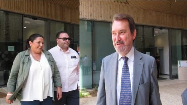 Dolores Amo y Juan Carandell a la salida de los juzgados