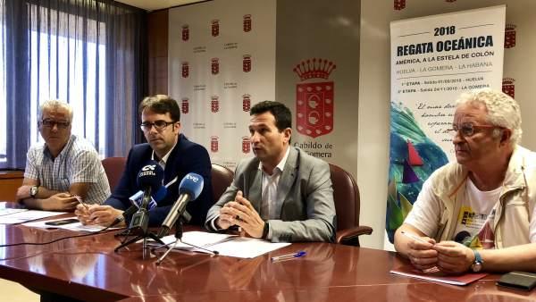 Presentación de la regata oceánica Huelva-La Gomera.