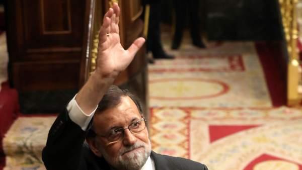 Rajoy, en el Congreso de los Diputados.