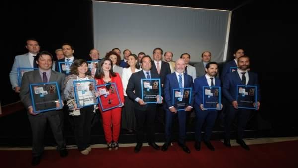 Premiados como 'Empresarios del Año'.