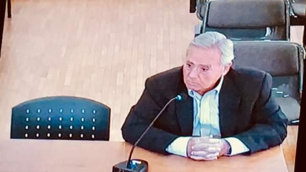 Luis Díaz Alperi (PP), exalcalde de Alicante, en el juicio
