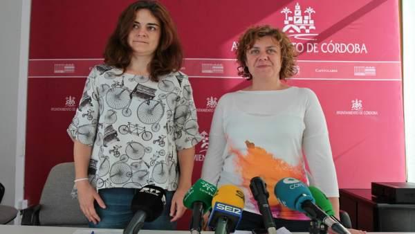 María de los Ángeles Aguilera y Alba Doblas
