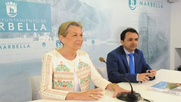 Francisca Caracuel, edil de Marbella, en rueda de prensa