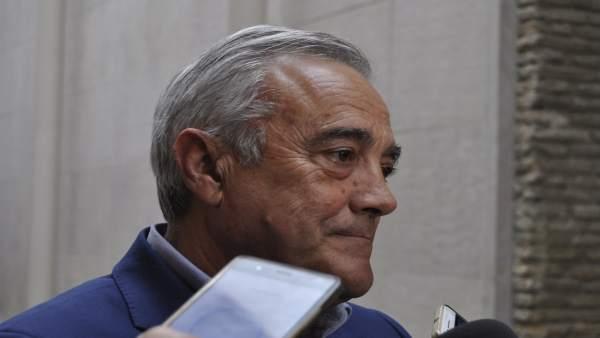 Javier Sada, portavoz del PSOE