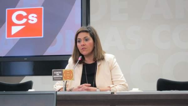 La portavoz de Ciudadanos en las Cortes de Aragón, Susana Gaspar