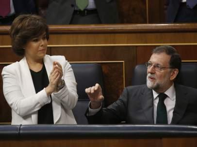 Sáenz de Santamaría y Rajoy