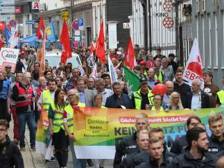 Manifestación contra neonazis