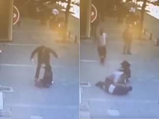 Agresión a una mujer en Estambul