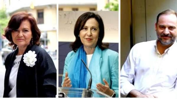 Candidatos a ministrables en el gobierno de Pedro Sánchez.