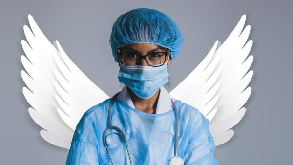 Enfermera, médicos, ángeles de la guarda.