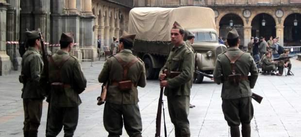 Rodaje de la película de Amenábar en Salamanca.