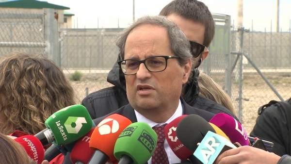 """Torra quiere reunirse con Sánchez con """"urgencia"""""""