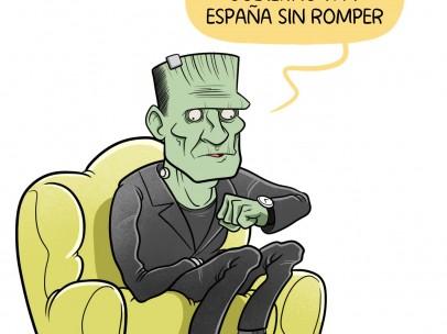 Gobierno Frankenstein, viñeta de Álvaro Terán