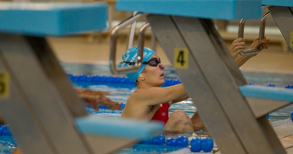 Noelia Ortega compite en natación.