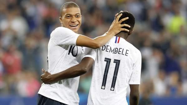Mbappé y Dembéle