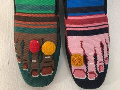 Zapatillas con dedos