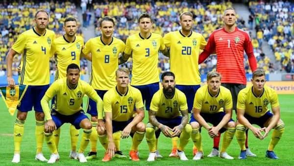 La selección de Suecia, en un amistoso en Estocolmo.