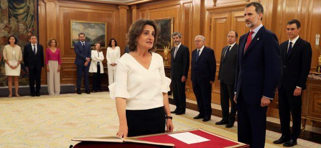 Ribera promete su cargo como ministra de Transición Ecológica