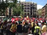 Manifestación de trabajadores de Correos