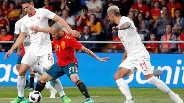 David Silva, en un partido con la selección española.