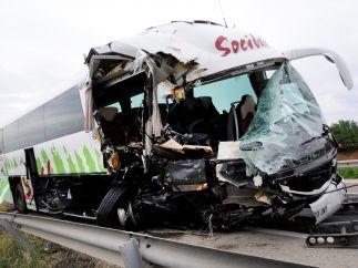 Accidente de autobús en Toledo