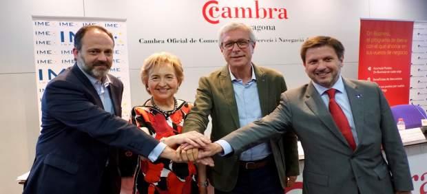 De izq a drc José Terreros, Laura Roigé, Josep Fèlix Ballesteros i Josep Andreu.