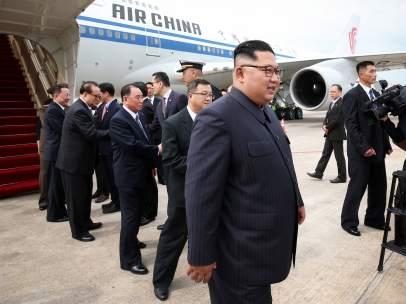 Kim Jong-un, en Singapur