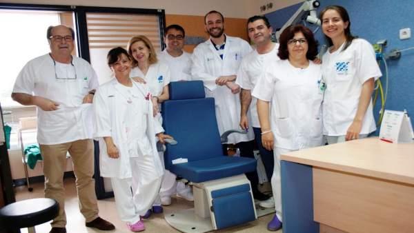 Equipo médico del Hospital 'Santa Bárbara' de Puertollanoc