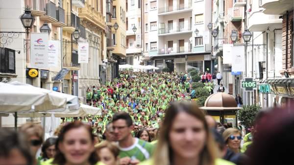 Carrera contra el cáncer en Teruel.