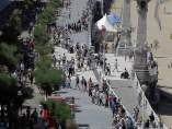 Cadena humana en el País Vasco
