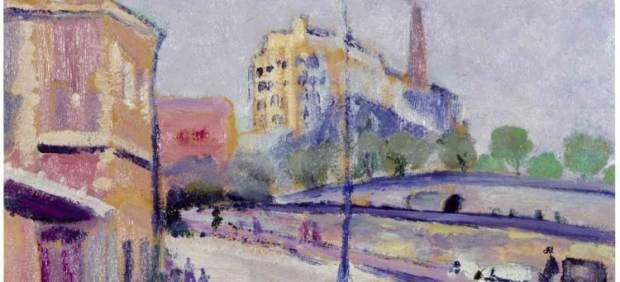 La estación de Atocha en un óleo de Rafael Botí
