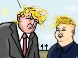 Trump y Kim Yong Un, viñeta de Superantipático