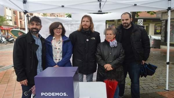 Podemos presenta su campaña en Segovia, 11-6-18