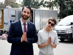 Dani Rovira y María León en el rodaje de 'Los Japón'.