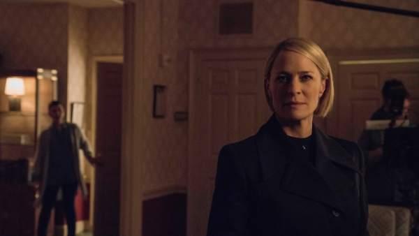 Primeras imágenes de Robin Wright como presidenta en la sexta temporada de 'House of Cards'.