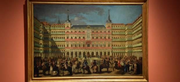 Una de las obras que forman parte de la exposición 'La Plaza Mayor. Retrato y máscara de Madrid'