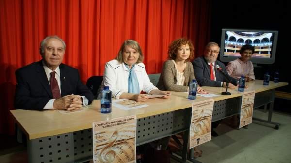 Presentación concurso canto Albacete