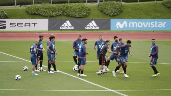 Último entrenamiento de la selección antes del Mundial de Rusia