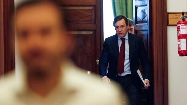 Rafael Hernando, portavoz del PP en el Congreso, este martes en la Cámara Baja.